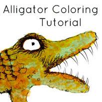 Alligator Coloring Tutorial