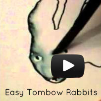Easy Tombow Rabbits
