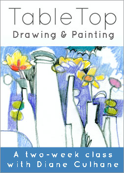 """Table Top: Drawing & Painting"" by Diane Culhane!"