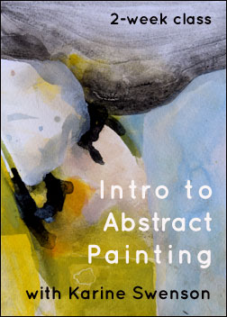 """Intro to Abstract Painting"" with Karine Swenson"