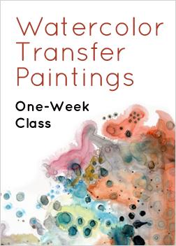 Watercolor Transfer Paintings