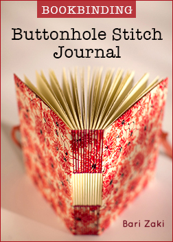 Bookbinding: Buttonhole Stitch Journal